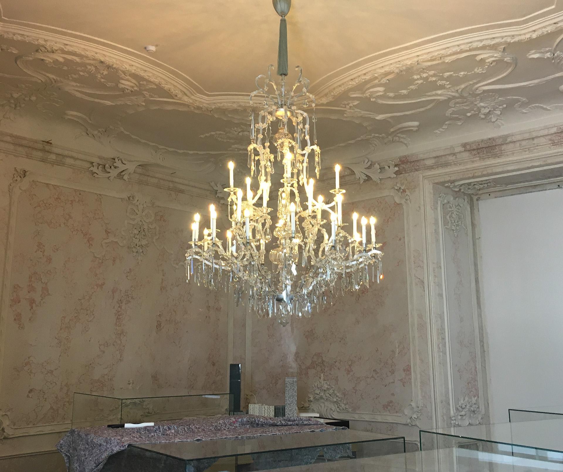 Festliche Beleuchtung im Palais Ferstel Wien - Die Lounge